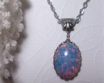 Art Nouvea Opal Necklace