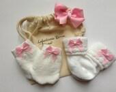 Newborn Girl sock and mitten set baby sock and mitten set newborn mittens newborn socks baby mittens baby socks NEWBORN HAT option