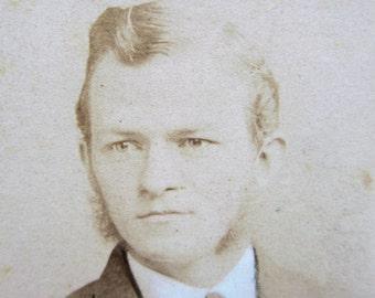 Antique Photograph CDV Carte De Visite Black White Photo Handsome Young Gentlemen Picture