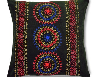 "Dew of Denau, 19"" Patduzi Velvet Pillow Cover - 4066"