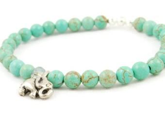Elephant Bracelet - Turquoise - Elephant Jewelry
