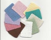 Dollhouse Miniature Hand Crocheted Mat / Throw Rug- Bamboo - multiple colors