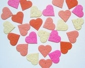 Plantable Seed Paper Confetti Hearts - Bliss Blend - Eco Friendly,  Wedding Favors, Bridal Showers, Cards & Crafts