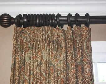 custom pinch pleat drapes panels window treatment designer qualtiy