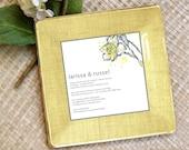 wedding invitation tray - decoupage plate - keepsake - memento - couples gift - wedding gift idea - personalized - invitation plate