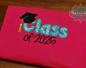 Class of 2025 Appliqued T-Shirt