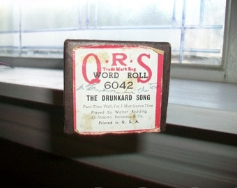 The Drunkard Song Player Piano Roll Vintage QRS 6042