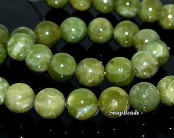 10mm Olive Peridot Gemstone Green Round Loose Beads 7.5 inch Half Strand (90111928-120)