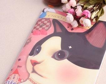 Cute Cartoon Cat Notebook Diary Sketchbook (s.u)