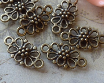 8 x 15 mm Antiqued Bronze Connectors (.mhu)