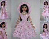 """Summer Time - PDF Doll Clothes knitting pattern for 16"""" Ellowyne Wilde Doll"""