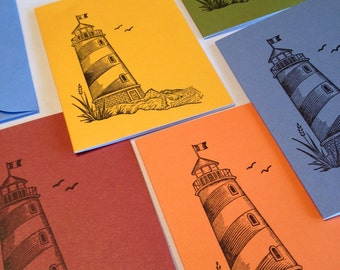 Lighthouse - Colorful Note Cards - Set of 5