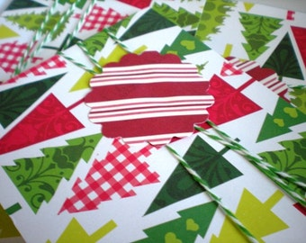 Christmas Trees Card Set of 6 with Envelopes