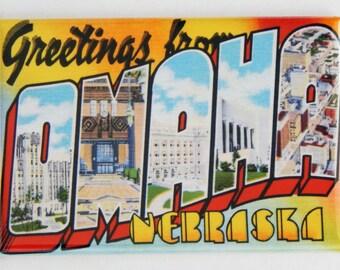 Greetings from Omaha Fridge Magnet