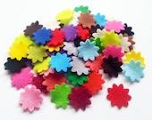 Felt flower, felt  shapes, set of 40 pieces