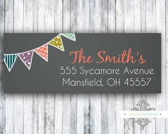 Return Address Labels - Stickers - Chalkboard