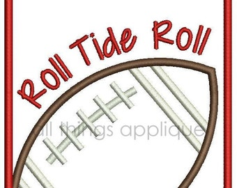 Football Patch Applique Design - Machine Embroidery - 3 Sizes - INSTANT DOWNLOAD