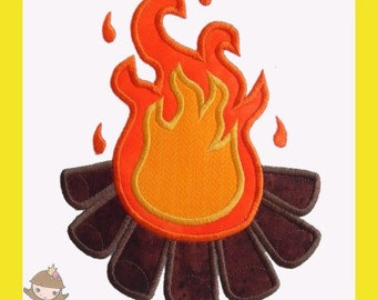 Camp fire Applique design