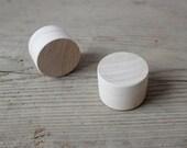 Set of 2 Tiny Wooden Ring Boxes / Wedding Ring Box / Unfinished Wood Box / Shabby Chic Wedding