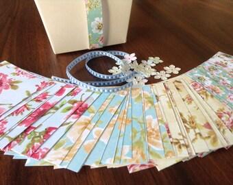 2 Kusudama Flower Ball Kits DIY- Classic Flower Origami Shower Favor Activity
