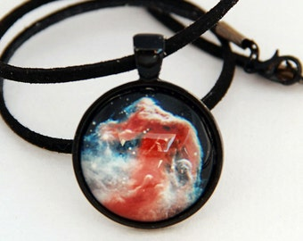 Galaxy Necklace, Horsehead Nebulae Necklace -Hubble Space Image Necklace- Galaxy Series