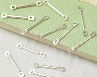 Connectors -300pcs Silver Plated Bar Connectors Jewelry Findings 2x15mm
