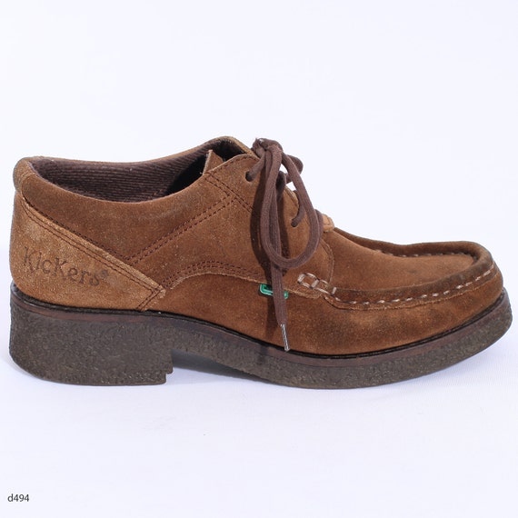 KICKERS . Suede Moccasins Shoes Ankle Booties Boots Vintage