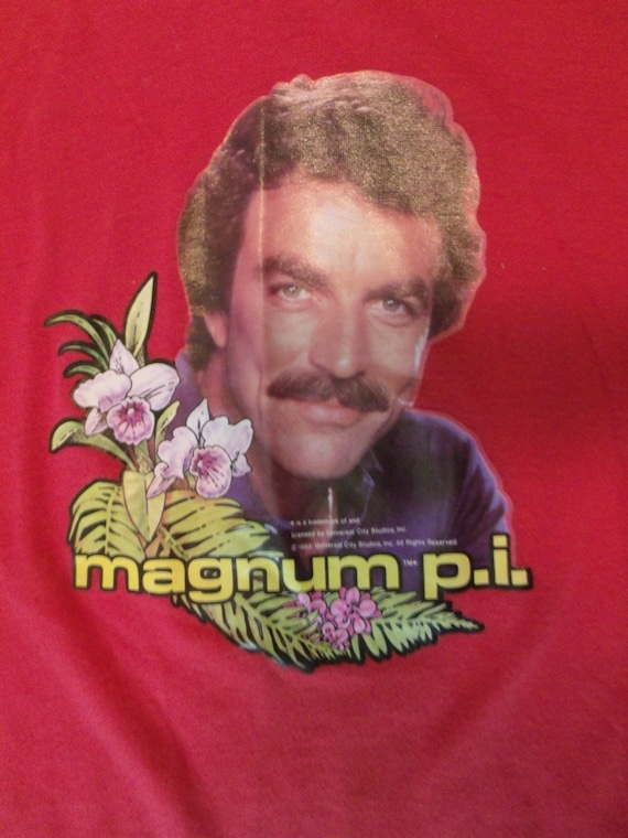 unbelievable vintage magnum pi tshirt 1982 by