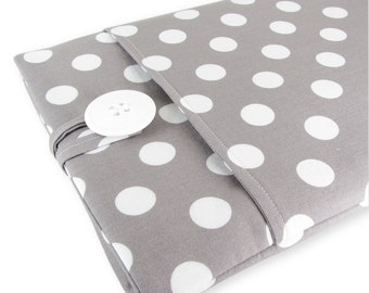 MacBook Air Case, MacBook Air Sleeve, MacBook Air 13 Case, MacBook Air 13 Sleeve, 13 Inch MacBook Air Sleeve - Grey Polka Dot