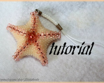 Starfish pendant or hairpin Beading Pattern PDFpendant beading pattern tutorial technique