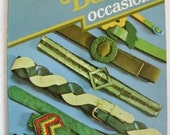 Belts for all occasions Vintage 70s Craft Book by Sarah Hobson Ribbon Fabric & Leather Belts