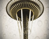 Seattle, Space Needle, Monorail 8 x 10 Photography