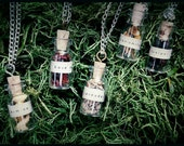 Botanical Corked Glass Vial Necklaces