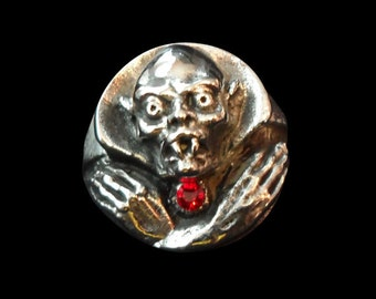Solid Bronze Nosferatu the Vampire Ring - Free Re-Size/Shipping