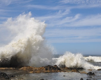 The Devils Churn on the Oregon Coast shows the power of the ocean.