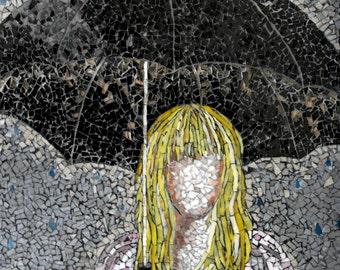Umbrella -Expressive Mixed Glass Mosaic