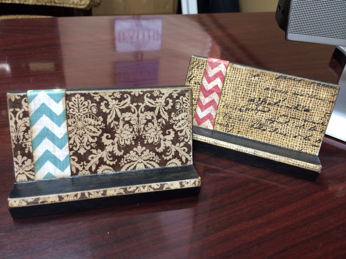 Unique Business Card Holder Desk Accessory Custom by