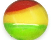 8 Cabochons 12mm - Rainbow - Glass  - Ships IMMEDIATELY from California - C128