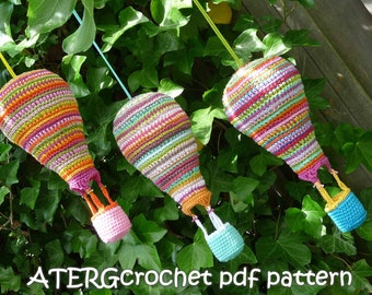 SALE - Crochet pdf pattern AIR BALLOON by ATERGcrochet