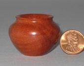 Red Gum Eucalyptus Turned Wood Miniature Pot