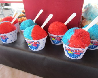 Sno Cone Cupcake Wrappers