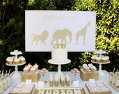 Golden Safari Table Backdrop by Bloom