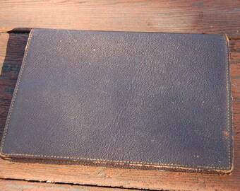 Vintage 1960's BROWN slim wallet leather CMB EISEN