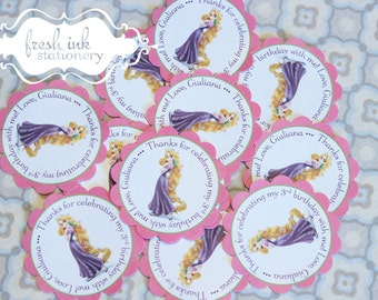 Personalized Rapunzel Stickers