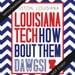 Louisiana Tech University Game Day Poster