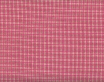 Sale, Pink Checkered Fabric, Pink Fabric, Pink Plaid Fabric, 1 yard fabric