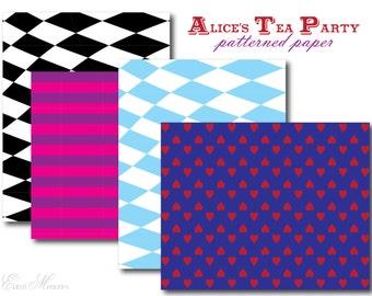 Alice's Tea Party Printable Party Paper - Alice In Wonderland - DIY Printable Party