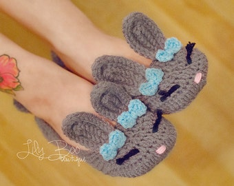 Bunny Boo Women's slippers sizes 5 to 10 customize colors