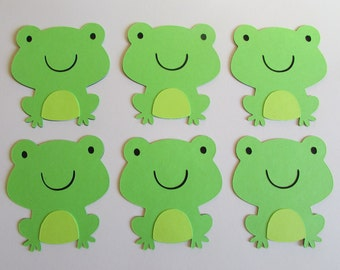 10 Frog Die Cuts 2 3/4 inches, Embellishments, Gift Tags, Scrapbooking