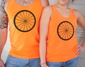 MYSTERY COLOR SALE! Keep Safe Bike Wheel Neon Tank Top for Cycling